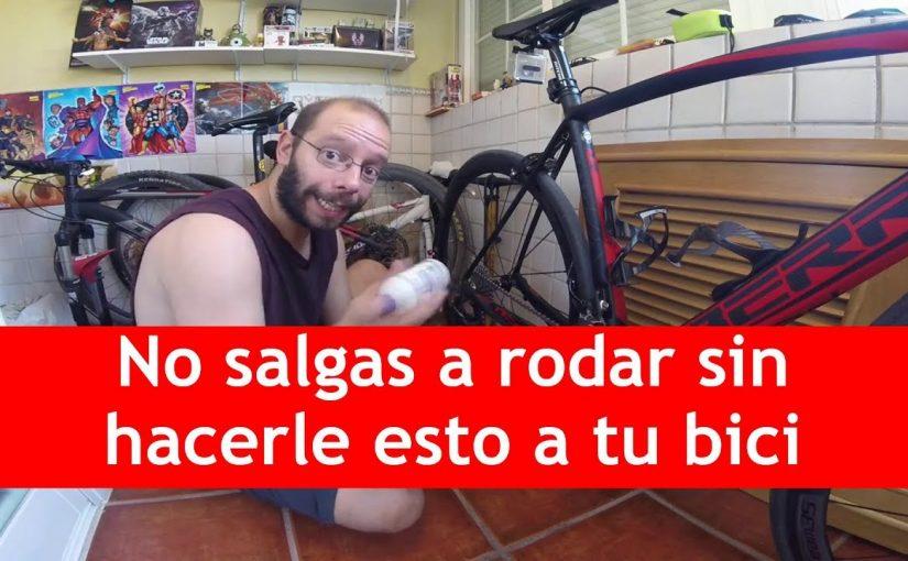 Mantenimiento que hay que hacer antes de salir a montar en bici